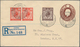 Thematik: UPU / United Postal Union: 1929 Großbritannien 1 1/2 P. GSU Gebr. Mit 2x 1P. Und 1 1/2 P. - U.P.U.