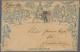 "Großbritannien - Ganzsachen: 1841, Mulready Envelope 2d. Blue, Stereo ""a195"", Postmarked With Black - Andere"