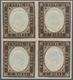 Italien - Altitalienische Staaten: Sardinien: 1858: 10 Cents Dark Chocolate Brown, 1859 Printing, Bl - Sardaigne