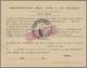 Italien - Paketmarken: 1945. 10 Lire Lila, The Fasces In The Center Overprinted With A Black Ornamet - 1900-44 Victor Emmanuel III