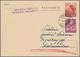 Liechtenstein - Ganzsachen: 1944, 20 Rp Braunrot 'Enzian' Ganzsachenkarte Ohne Bild, Druckvermerk 'C - Entiers Postaux