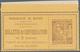 Monaco - Ganzsachen: 1882, 50 C. Telefonbillett Mit Wertstempeleindruck Vom Oberrand Ungebr. Für Ein - Postwaardestukken