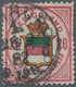Helgoland - Marken Und Briefe: 1880, 2½P/20 Pfg Rosakarmin/braungelb/dunkelgrün, Doppelt Entwertet M - Héligoland