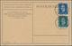 """Deutsches Reich - Weimar: 1924 Deutsches Reich 10 U. 20 Pf. """"50 Jahre Weltpostverein"""" M. Abb. """"Steph - Allemagne"""