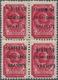 Dt. Besetzung II WK - Litauen - Rakischki (Rokiskis): 60 K. Karmin Im 4er-Block Mit Schwarzem, KOPFS - Bezetting 1938-45