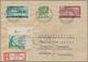 Berlin: 1950, 10 Pfg. Rotaufdruck , 10 Pfg. Goethe (re. Obere Bogenecke) Mit MiF. Fr. Zone + Rheinla - [5] Berlin