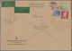 Berlin: 1952, 30 Pfg. Und 1 DM Bauten Mit 20 Pfg. Männer I Zusammen Auf Postschnelldienstbrief Der 2 - [5] Berlijn