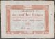 France / Frankreich: République Française 1000 Francs Assignat January 7th 1795, P.A80, Excellent Co - 1955-1959 Opdruk ''Nouveaux Francs''