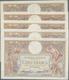 France / Frankreich: Banque De France Set With 5 Banknotes 100 Francs 1932, 1933, 1934, 2x 1936, P.7 - 1955-1959 Opdruk ''Nouveaux Francs''