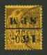 ST PIERRE ET MIQUELON : 15c S/ 35c (n°13a) SURCHARGE RENVERSEE Obl. Cote 1000€. Signé BRUN. TTB. - St.Pierre & Miquelon