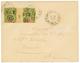 NOUVELLE CALEDONIE : 1902 15 S/ 1F Paire Avec Millésime 3 Sur Enveloppe Locale De NOUMEA. Superbe. - Marocco (1891-1956)