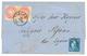 METELINO : 1866 Pair 5 SOLDI Canc. METELINO + GREECE 20 L (fault) On Entire Letter To GREECE. Vvf. - Levant Autrichien