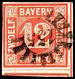 """""""155"""" - GERMERSHEIM, Zentrisch Kopfstehend Auf Farbfrischer, Eng- Bis überrandiger 12 Kr. Rot, Katalog: 6 O - Bavière"""
