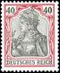 40 Pfg Germania O.Wz., Ungebraucht, Gepr. Jäschke-L.BPP, Mi. 120.-, Katalog: 75 * - Germania