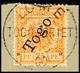25 Pf. Tadellos Auf Briefstück, Mi. 70.-, Katalog: 5 BS - Colonie: Togo