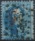 [O SUP] G15, 20c Bleu Obl 'LP252' Mons Avec Marque 'G' Idéalement Apposée Guillochin En Rouge - Cote: 300€ - 1863-1864 Medallions (13/16)