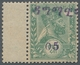 "Äthiopien: 1907, ""05 Instead Of ¼ G. Dagmavi Overprint"", Mint Hinged Value Of The Rare Misprint In P - Ethiopia"