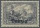 """Danzig: 1920, 3 M. Mit Berliner Aufdruck """"Danzig"""" In Der Guten Farbe """"schwarzgrauviolett"""", Tadellos - Danzig"""