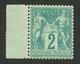 2c SAGE Vert (n°62) Neuf ** Bord De Feuille. Légère Froissure De Gomme. TB Centrage. Certificat MIRO (1975). TTB. - Frankreich