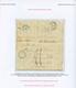 """PALESTINE : 1846 BEYROUTH SYRIE + Taxe 21 Sur Lettre Avec Texte Daté """"SUADEA"""" Pour La FRANCE. Verso, Achemineur Manuscri - Frankreich (alte Kolonien Und Herrschaften)"""