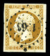 O N°9, 10c Bistre-jaune, Obl Pc, TTB (certificat) - 1852 Louis-Napoléon