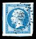 O N°14A, 20c Bleu Type I, Grandes Marges Avec 4 Voisins. SUP (signé Scheller/certificat) - 1853-1860 Napoleon III