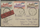 TUNISIE Poste Aérienne N° 7 à 9 1,30 Fr Orange Et Violet + 1,80 Fr Vert-gris Et Carmin + 2,55 Fr Lilas-rose Et Bistre - Tunesien (1888-1955)