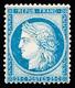 N° 60B 25c Bleu Type II, TB, R. Signé Calves - 1871-1875 Ceres