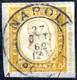 Piece 1862, 80 Cent. Arancio Scuro Bordo Di Foglio A Destra Annullato A Napoli Il 27.10 Primo Mese D'uso, Certificato Co - Unclassified