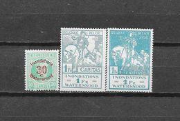 België 1926 Y&T Nr 237/39 (**) - 1922-1927 Houyoux