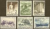 NEDERLAND 1950 Zomer Zegels Mint Hinged Nrs. 552-557#411 - Period 1949-1980 (Juliana)