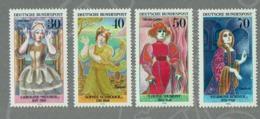 1976 L´ ALLEMAGNE TIMBRES DE FEMMES CÉLÈBRES FAÇON - GERMANY WOMAN FAMOUS FASHION SET STAMPS MNH - Celebridades