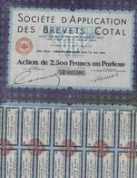 STE D´ APPLICATION DES BREVETS COTAL - Azioni & Titoli
