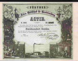 GESELLSCHAFT FUR GASBELEUCHTUNG ZU FURTH 1858 ( REPRODUCTION) - Electricité & Gaz