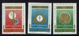 1976 VATICAN CONGRESS EUCHARITS PHILADELPHIA STAMPS MNH - Vaticano (Ciudad Del)