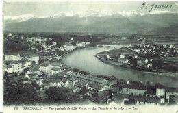 Grenoble (38) Vue Générale De L'ile Verte, La Tronche Et Les Alpes - Grenoble