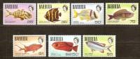 Barbuda 1968 1970 Yvertnr 21-27 *** MNH Cote 22,50 Euro Faune Poissons Vissen - Antigua Y Barbuda (1981-...)