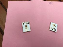 Pin's Visa - Jeux Olympiques Albertville 92 - Neufs - Série Complète - Pins