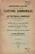 LOI ÉLECTORALE COMMUNALE BELGE Avec Annotations Par Alfred Delcroix, 1946 - Right