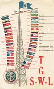Drapeaux Du Continent Américain Sur  QSL De TG SWL Gmo Montenegro Wolters, Guatemala City Du 19/1/1946 - Guatemala