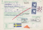 Sweden; Booklet Pair On Package Card To Denmark - Suecia