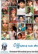 """Affiche """"Offrons Un Avenir Aux Enfants"""" 1990, Format 58 Cm X 41 Cm, 64 Photos D'enfants - Affiches"""