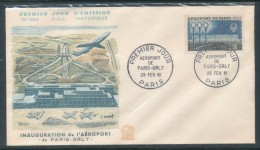 1961 Env 1er Jour N°364 Orly - FDC
