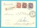153+154+155 Op Aangetekende Brief, Postagentschapstempel St-GILLIS (Brussel) 12 Op 11/1/19, Met Nood-aantekenstrookje !! - 1918 Red Cross