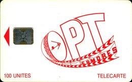 COMORES:COM-04a 100 Red SC-5 Matt  SECOND CARD !! - Comoros