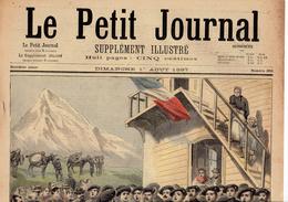 LE PETIT JOURNAL N° 350 - 1 Août 1897 Artilleurs Chiens Pèlerinage Alsace - Journaux - Quotidiens