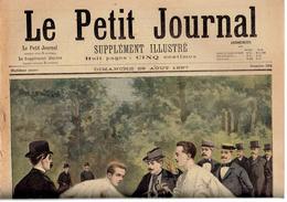 LE PETIT JOURNAL N° 354 - 29 Août 1897 Duel Henri D´Orléans Comte De Turin Espagne Angiolillo Conseil De Guerre - Journaux - Quotidiens