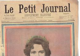 LE PETIT JOURNAL N° 401 - 24 Juillet 1898 Ernestine Curot Colonel Combes Constantine Vernet Abyssinie Élysée - Journaux - Quotidiens