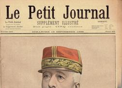 LE PETIT JOURNAL N° 409 - 18 Septembre 1898 Renouard Zurlinden Wilhelmine Couronnement Pays-Bas - Journaux - Quotidiens
