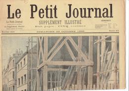 LE PETIT JOURNAL N° 414 - 23 Octobre 1898 Grève Paris Forichon Cour D'Appel Paris - Kranten